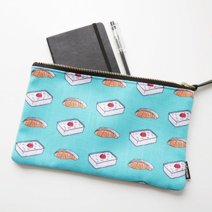 salmon bento pouch