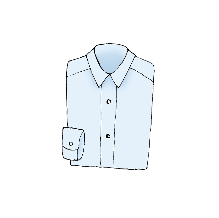 dress shirt illustration