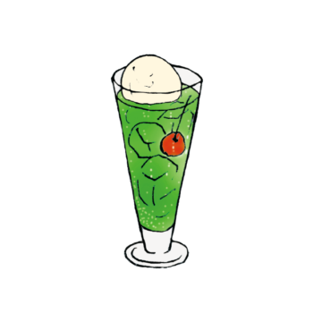 melon soda float
