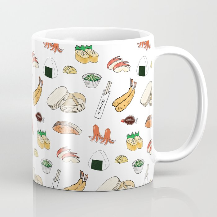 bento pattern coffee mug cup