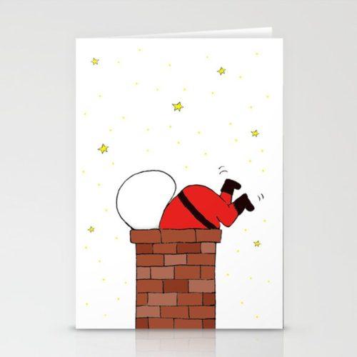 christmas card santa white