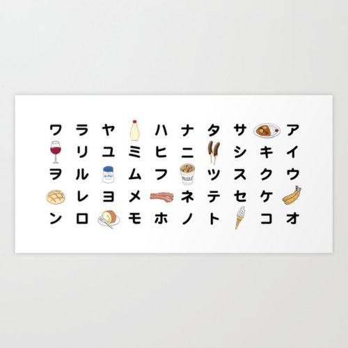 katakana chart art print