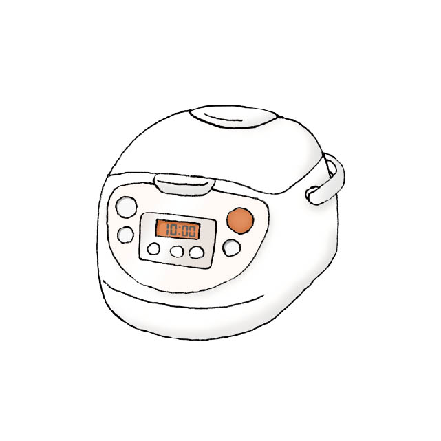 rice cooker illustration