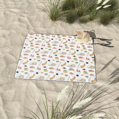 bento pattern picnic blanket