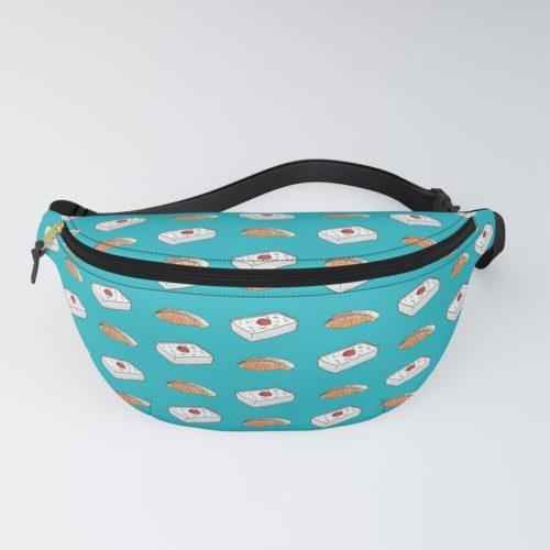 bento salmon pattern fanny pack