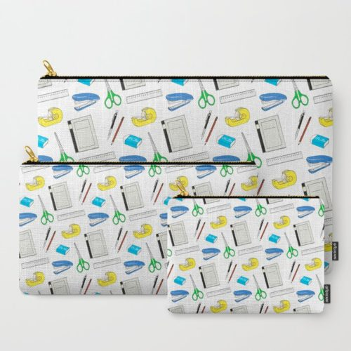 bungu stationery pattern pouch set of 3
