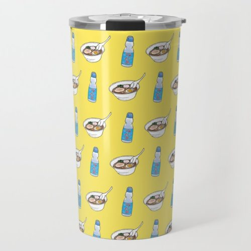 ramen ramune pattern travel mug