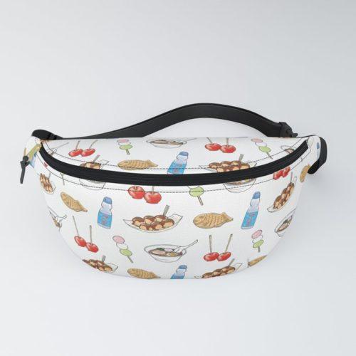 yatai pattern fanny pack