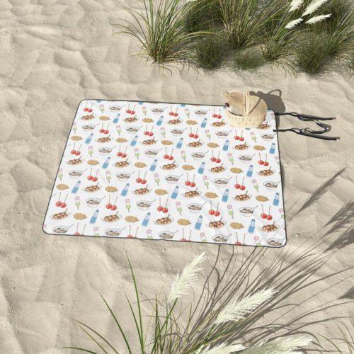 yatai pattern picnic blanket