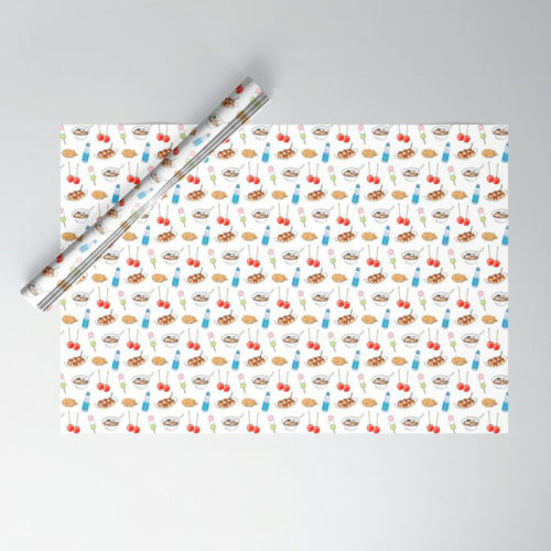 yatai pattern wrapping paper