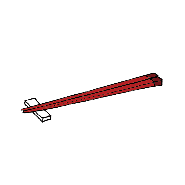 Japanese chopstick illustration