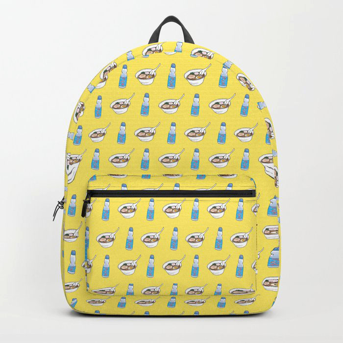 ramen and ramune backpack yellow