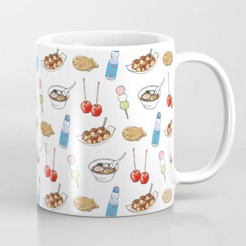 yatai pattern coffee mug cup
